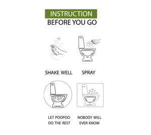 Toalett sprej - tar bort odören helt - spreja direkt i toan.