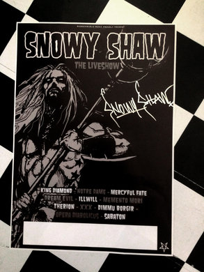 SNOWY SHAW TOUR POSTER