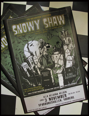 SNOWY SHAW HALLOWEEN SUPER POSTER