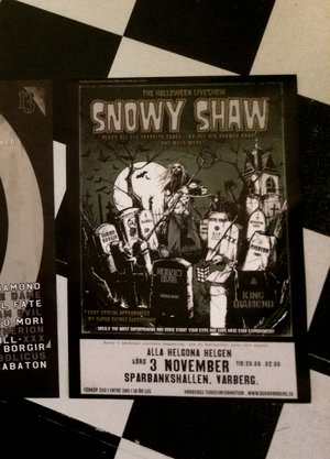 SNOWY SHAW HALLOWEEN POSTER