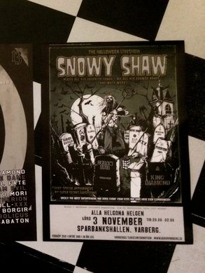 SNOWY SHAW HALLOWEEN POSTER