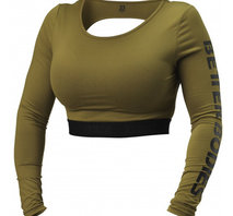 Better Bodies Chelsea Cropped LS - Military Green
