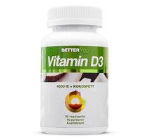 Better You Vitamin D3 + Kokosfett 90kap