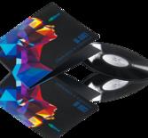 Painetaan  Vinyl 12 tum Gatefold kirjekuori 4 väri painatus