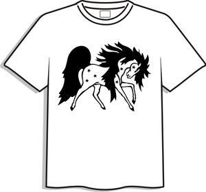 T-shirt med tryck, vit