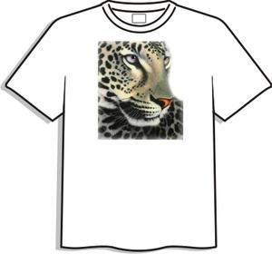 T-shirt med färgtryck