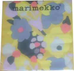 Servett Marimekko - gulblommig