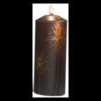 Dandelion - Blockljus 18 cm (Brun)