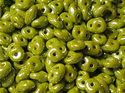 Superduo® Opaque Olivine Luster, 53410/14400. 10 gram per påse.