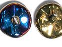 Ripple™ beads, California Violet. 20-pack