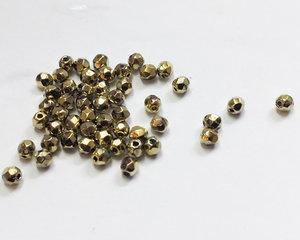 Fasetterade firepolish, Crystal Full Amber 3 mm. 50 st