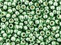 TOHO seedbead 15/0, Galvanized Mint Green Permafinish. 5 gram.