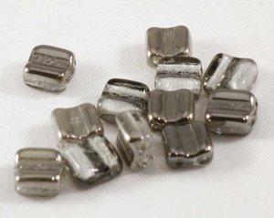 Bone beads, tjeckisk två hålig pärla, Crystal Labrador. 20-pack.