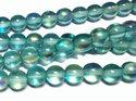 Runda ljust mintgröna pärlor med lyster, 6 mm. En sträng.