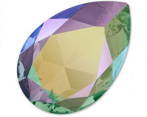 Pear Flat Fancy Stone, 30*20 mm. Crystal Paradise Shine.