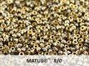 Matubo 8/0, Crystal Amber. 10 gram.