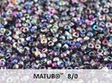 Matubo 8/0, Crystal Magic Blue Pink. 10 gram.