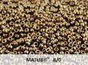 Matubo 8/0, Jet Gold Bronze 24 Carat. 10 gram.