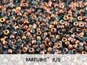 Matubo 8/0, Aqua Capri Goldi. 10 gram.