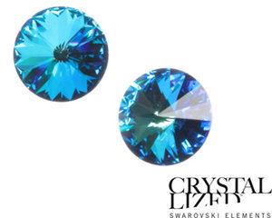Swarovski Rivoli, 12 mm. Crystal Bermuda Blue.