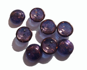 Piggy bead crystal lilac luster. 20-pack