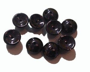 Piggy bead jet lilac metallicluster. 20-pack