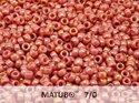 Matubo 7/0, Chalk White Ruby Luster. 10 gram.