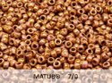 Matubo 7/0, Chalk White Senegal Brown Violet. 10 gram.