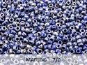 Matubo 7/0, Opaque Blue Picasso. 10 gram.