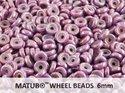 Wheel Bead, Chalk Vega Luster, 6 mm. 10 gram.