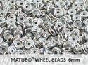 Wheel Bead, Chalk Full Labrador, 6 mm. 10 gram.