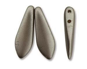 2-hålig dagger, 5*16 mm. Pastel Light Coco, 25 st.