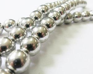 Rund tjeckisk fire polish pärla, Crystal Full Labrador, 8 mm. En sträng.