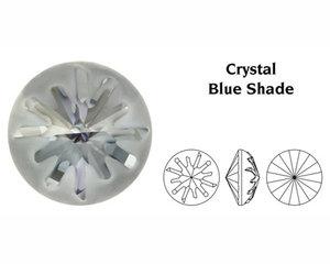 Sea Urchin Round Stone, 14 mm.  Crystal Blue Shade.