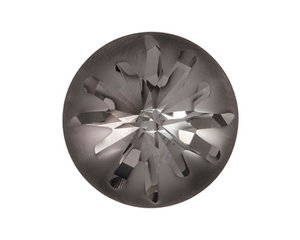 Sea Urchin Round Stone, 14 mm.  Crystal Silvernight.