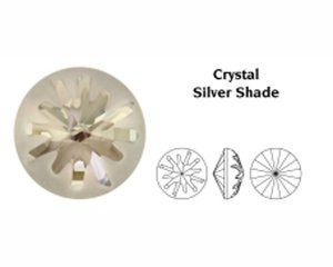 Sea Urchin Round Stone, 14 mm.  Crystal Silvershade.