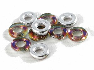 Glasringar Crystal Vulcano, 10 mm. 10-pack
