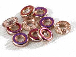 Glasringar Crystal Sliperit, 10 mm. 10-pack