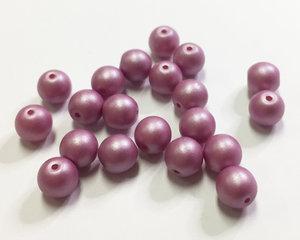 Runda druks, Pink Purple, 6 mm. 20 st