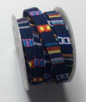Vävt textilband i bo-ho stil, 10 mm bredd. Per 20 cm