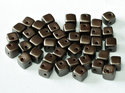 CrissCross Cube, Pastel Dark Brown, 25036. 30-pack.