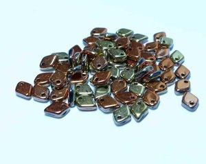 Dragon scale bead, Jet California Gold Rush. 5 gram
