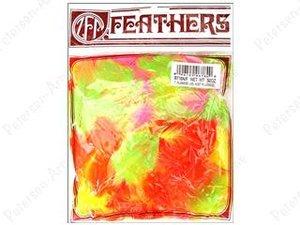 Kalkonfjädrar i neonfärger, 14 gram.