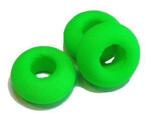 Neongrön donutpärla med UV-effekt