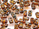 Rulla beads, Amber Picasso, 80020/43400. 10 gram