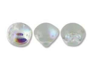 Mushroom beads Crystal AB, 9*8 mm.20 pärlor/förpackning.