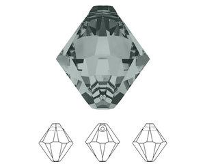 Xilion Bicone Pendant, 8 mm. Black Diamond. 2 st.