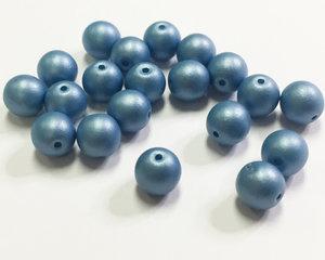 Runda druks, Thundery Blue Turqoise, 6 mm. 20 st.