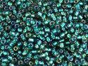 TOHO seedbead 11/0, Inside Color Rainbow Crystal Metallic Teal Line. 5 gram.