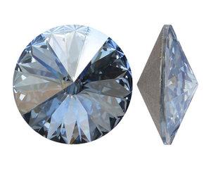 Swarowski Rivoli 12 mm. Crystal Blue Shade.